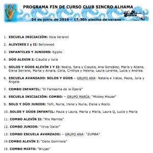 Programa fin de curso 2015-2016 Sincro Alhama